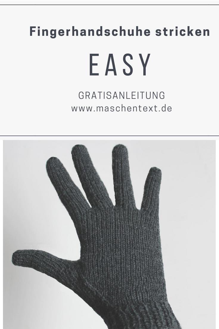 Fingerhandschuhe stricken: Perfekt passende Handschuhe werden am besten von der Spitze her gearbeitet, denn so können alle Finger bequem anprobiert werden. // Strickanleitung // Handschuhe stricken Anleitung // Herbst // Winter // Accessoires stricken //