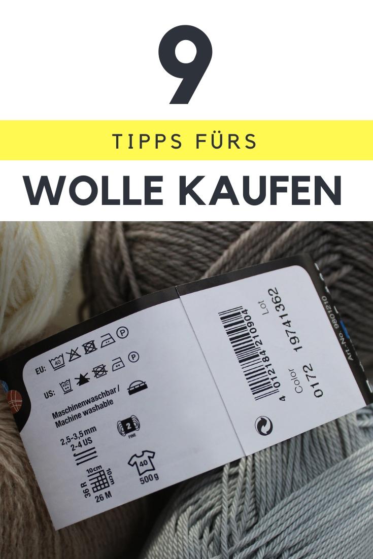 Fehlkäufe vermeiden: Darauf solltest Du beim Kauf von Wolle und Garn achten. Wer die Banderole zu lesen weiß, erspart sich typische Anfängerfehler. // Stricken für Anfänger // Stricktipps // 9 Tipps fürs Wolle kaufen