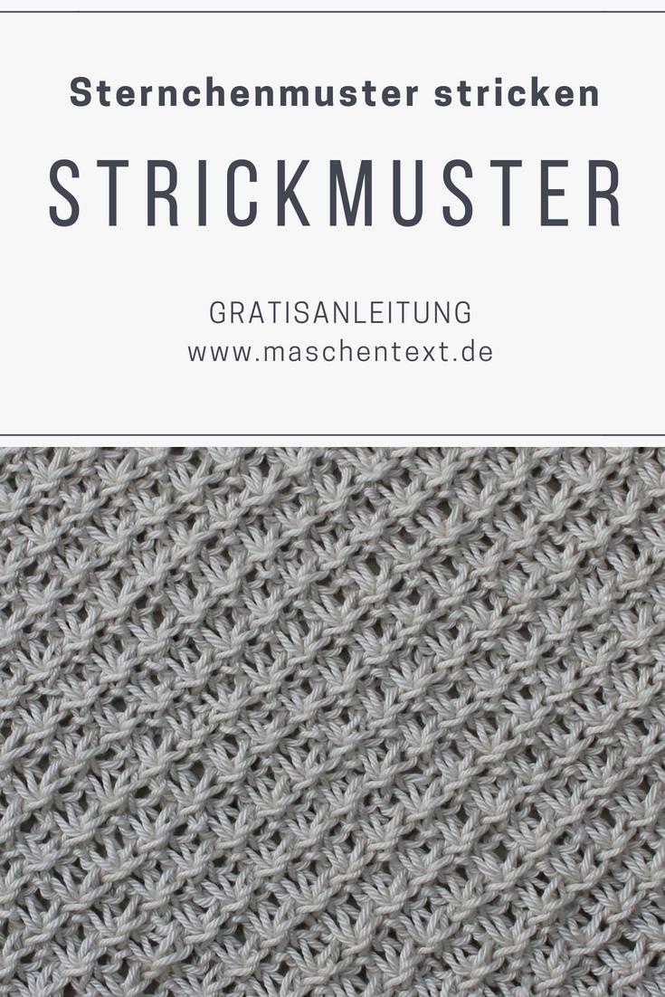 Sternchenmuster stricken: Ein schönes Strickmuster für Strickstücke mit Durchblick.