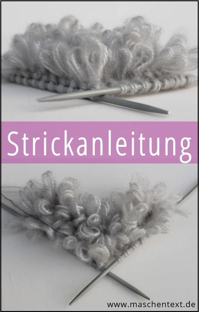 Schlingen-Flor stricken: Gratisanleitung auf Deutsch für ein fluffig-bauschiges Schlaufenmuster // Schlingen Flor stricken // Strickmuster // Wolle / Handarbeit // Strickblog // Strickanleitung // DIY //